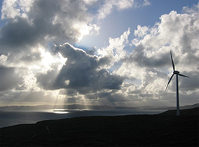 Photograph of Albany Windfarm at Sunset, Western Australia